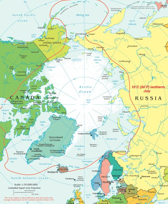 map of arctic circle. Map of the Arctic Region