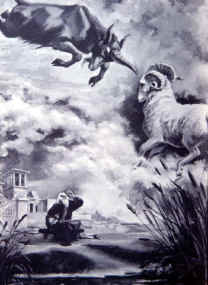 The Battle Between The Ram And The He Goat