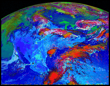satilite photo of the US small