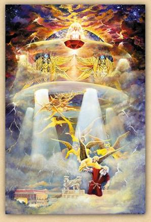 Image result for zechariah's seventh vision 4 flying chariots